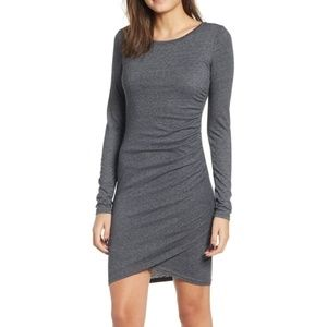 Leith Gray Ruched Dress from Nordstrom Size M